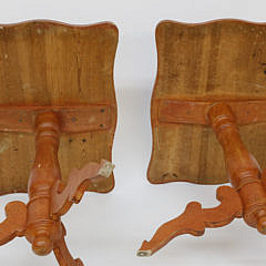 Pair of Scandinavian Decorated Candle Stands, 19th century