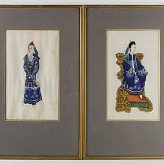 127-4621 Pair Emperor and Empress Watercolors A_MG_1060