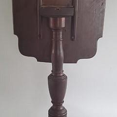 American Mahogany Tripod Tilt Top Candlestand, 19th Century