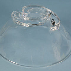 Signed Steuben Clear Crystal Bowl