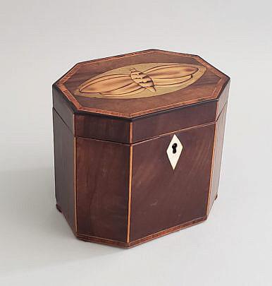 15-4915 Moth Inlaid Tea Cady A