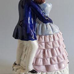 19th Century English Staffordshire Courting Couple Figurine