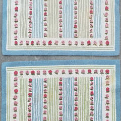 1557-54 Pair Clair Murray Strawberry Rug A