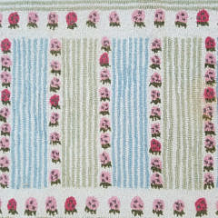 "Pair of Claire Murray Hooked Rug ""Strawberry Fields"""