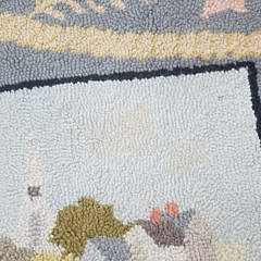 """Claire Murray Hooked Rug """"Rainbow Fleet at Brant Point Nantucket"""""""