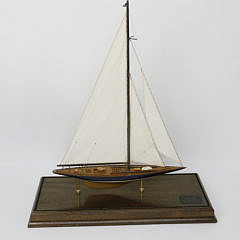 """Cased Model of the 1934 America's Cup Challenger """"Endeavour"""""""