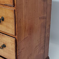 New England Cherry and Birch Four Drawer Chest of Drawers, 19th Century