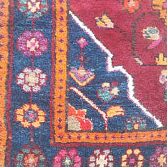 Vintage Mahal Hand Knotted Wool Carpet
