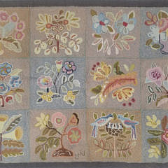 1610 Claire Murray Floral Album Hooked Rug A