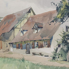 """Watercolor on Paper """"English Cottage"""""""