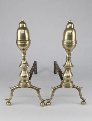1617-54 Brass Andirons A_MG_2136
