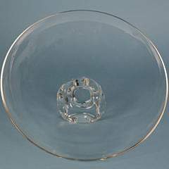 Signed Steuben Clear Crystal Footed Compote