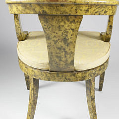 Antique Sponge Painted French Empire Armchair