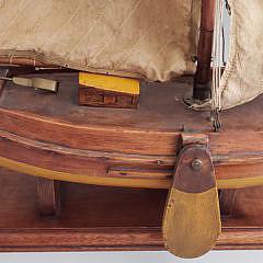 19th Century English Miniature Fishing Trawler Model