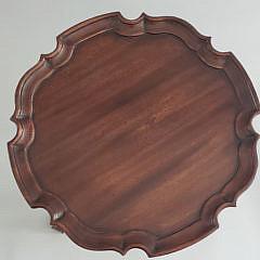 Mahogany Pie Crust Top Brandy Stand