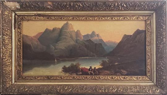 183-289 River Landscape Oil Painting A