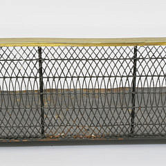 18th Century Brass and Wire Fireplace Fender