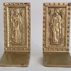 20-4209 Brass Figural Bookends A
