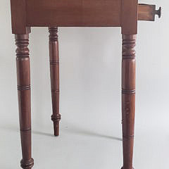 American Sheraton Two Drawer Maple Stand, circa 1820