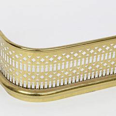 19th Century Pierced Brass Fireplace Fender