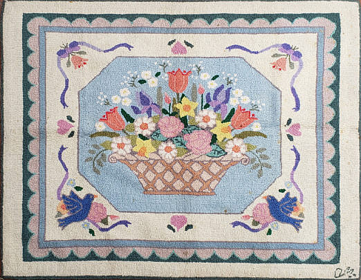 2416-955 Claire Murray Flower Basket A