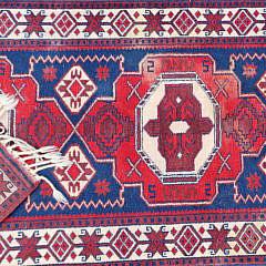Vintage Turkish Tribal Carpet Runner