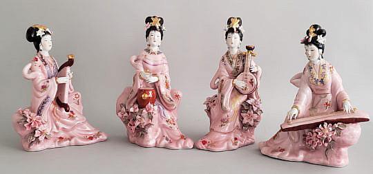 2421-955 Porcelain Geisha Girls A
