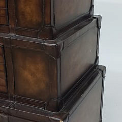 Pulaski Graduating Leather Suitcase Form Chest of Drawers