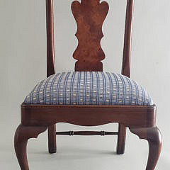 Queen Anne Style Burlwood Child's Chair