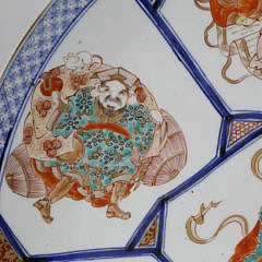 """Japanese Imari Porcelain Charger, """"Seven Gods of Luck"""", late 19th Century"""