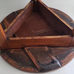 19th Century English Pine Cricket Table