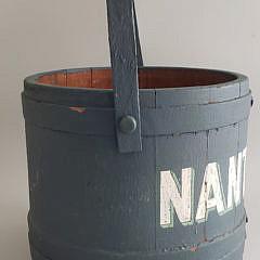 Antique Nantucket Paint Decorated Firkin