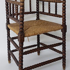 31-4940 English Oak Spool Chair A