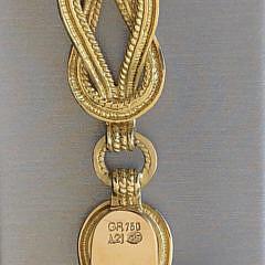 Vintage Ilias Lalaounis 18k Gold Hercules Knot Bracelet