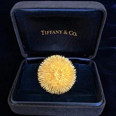 37-4847 Tiffany Company Gold Sea Urchin Pin A IMG_6922
