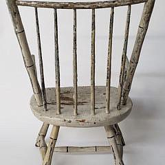 New England Child's Birdcage Windsor Armchair, 19th Century