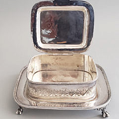 Silver Plated Floral Etched Sardine Box