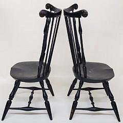 Pair of Warren Chair Works Nantucket Fan Back Windsor Dining Chairs