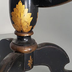 Chinoiserie Black and Gilt Decorated Tilt Top Table
