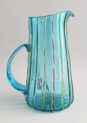 40-2674 Art Glass Pitcher A
