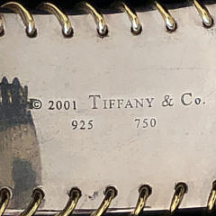 Tiffany & Co. 18k Yellow Gold and Sterling Silver Cuff Bracelet