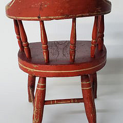 New England Child's Firehouse Windsor Chair, 19th Century