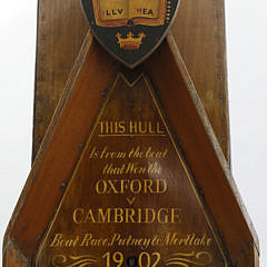 Section of the Hull Which Won the Oxford vs Cambridge Boat Race, circa 1902