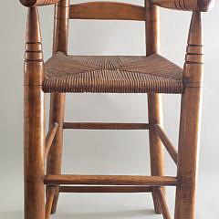 Antique American Ladder-back High Chair