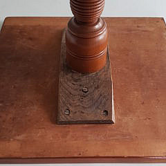 Early 19th Century New England Cherry Square Top Candlestand