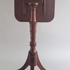 Diminutive Federal Mahogany Tilt Top Candlestand, early 19th Century