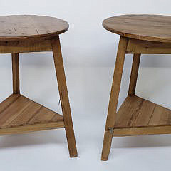 Pair of Vintage English Pine Cricket Tables