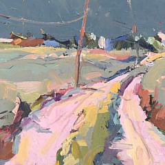 "David Lazarus Acrylic on Canvas ""Sand Road to the Beach"""