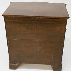 George III Inlaid Mahogany Serpentine Front Diminutive Chest of Drawers, 18th Century