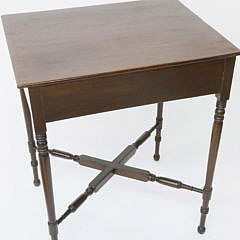 Late Federal Inlaid Mahogany Occasional Table, early 19th century